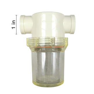 Standard Nylon FPT Strainers - Clear Bowl