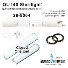 QL-140 Viqua™ / Sterilight® Equivalent Combo Kit (Lamp, Quartz Sleeve, O-Rings)