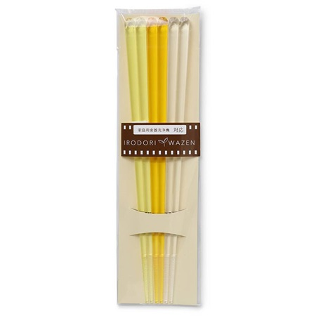 Chopsticks Acrylic Yellow Set/3