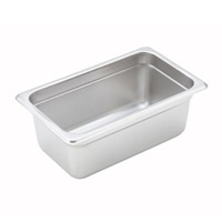 "Economy Anti-Jam 1/4 Size, 4"" D Steam Table Pan"