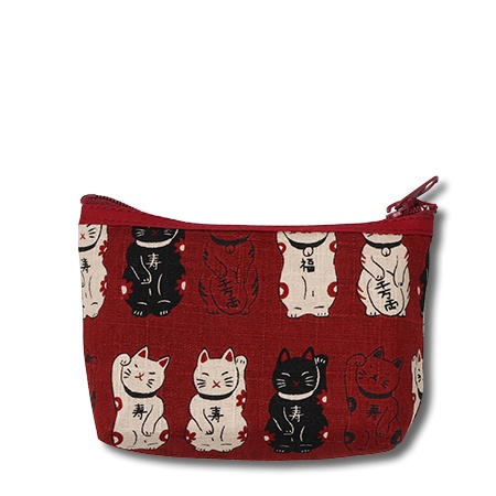 Purse Red Fortune Cats