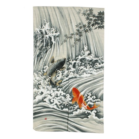 Koi Waterfall Noren
