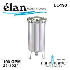 élan™ EL-190: Stainless Steel Filter Housing, up to 190 GPM