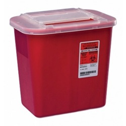 2 Gallon Red Container - Non-Locking Sliding Lid