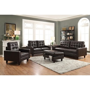 50260 ESPRESSO LEATHER GEL SOFA