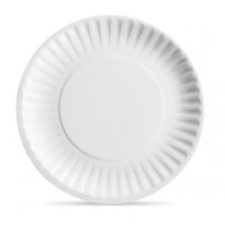 "6"" WHITE UNCOATED PAPER PLATE, 1000/CS"