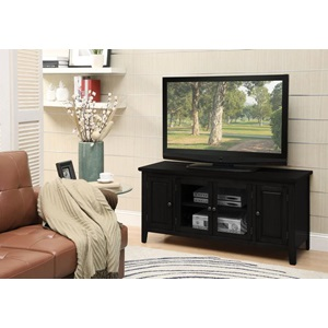 10344 BLACK FINISH TV STAND