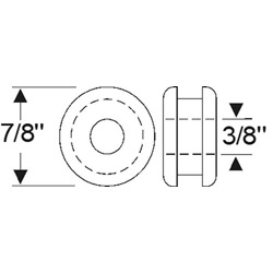 "Multi-Purpose Grommet 7/8"" x 1/4"""