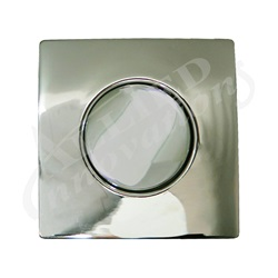 AIR BUTTON TRIM: #20 DESIGNER TOUCH, POLISHED NICKEL, SQUARE