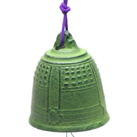 Wind Chime Temple Bell Green 2-1/2""