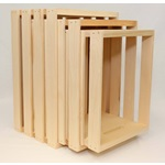 3 Pc. Triple Nested Wood Crates (Lrg., Reg. & Med.)