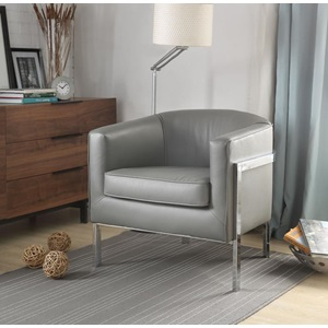 59811 GRAY ACCENT CHAIR