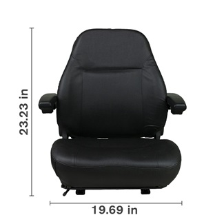 High Back Black Seat