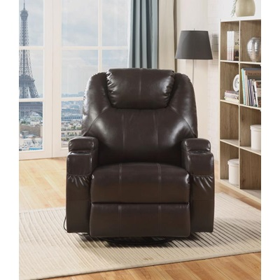 59278 BRWON ROCKER RECLINER W/SWIVEL