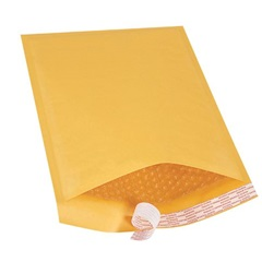 "9.5 X 14.5"" KRAFT BUBBLE MAILERS, SELF-SEAL, #4,"
