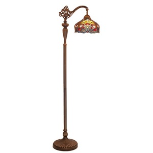 "59""H Tiffany Style Stained Glass Harvest Floor Lamp"