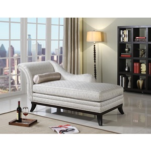 96198 BEIGE FAB. CHAISE W/PILLOW
