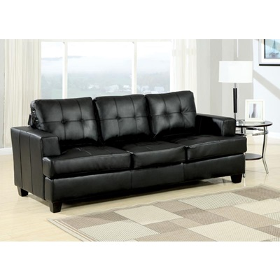 15061 BLACK BND L. SOFA W/Q. SLEEPER