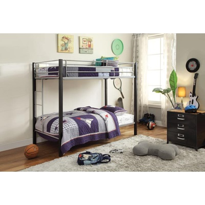 37240 SILVER/BROWN T/T BUNKBED