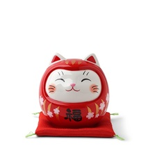 Daruma Fortune Cat Bank 3.75""