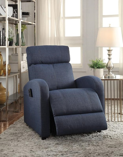 Acme Furniture 59347 Blue Recliner W Power Lift