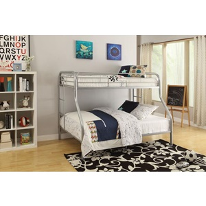 02052SI SILVER TWIN/QUEEN BUNK BED