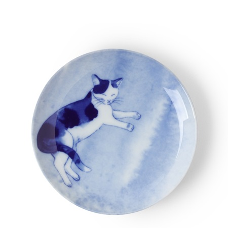 Blue Cat Relaxing Plate