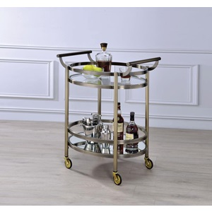 98190 GOLD SERVING CART