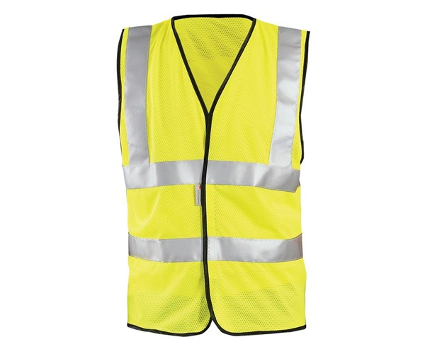 High Visibility Premium Mesh Dual Stripe Safety Vests