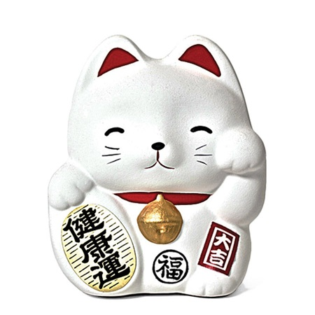 Fortune Cat Bank - White