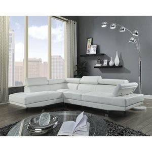 52645 CONNOR CREAM PU SECTIONAL SOFA