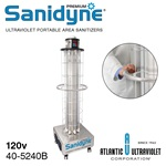 Sanidyne Premium: 120v 50/60Hz (with Swivel Wheels)