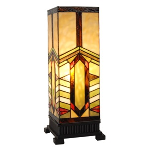 "17.25""H Mission Style Stone Mountain Pillar Uplight"