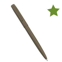 FLAT DARK EARTH METAL CLICKER PEN  – Black Ink