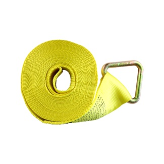 "4"" x 30' Truck Tie Down With Delta Ring, Yellow"