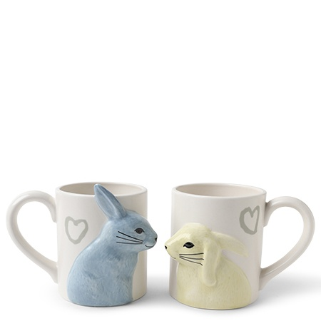 Kissing Rabbits Mug Set