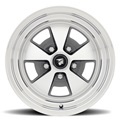 15 x 7 Legendary Flat 5 Alloy Wheel, 5 on 4.5 BP, 4.25 BS, Charcoal / Machined
