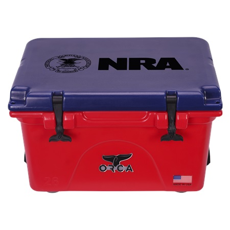 NRA Red Blue 26qt ORCA Cooler