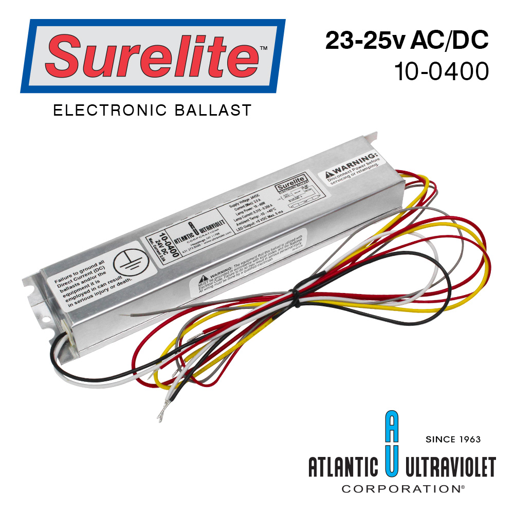 Surelite Ballast 10 0400 Buyultraviolet Dc To Ac Wiring Diagram 23 25v 15 50w Includes Specification Sheet