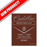 Cadillac Master Parts List 1948 - 1959 (Reprint)
