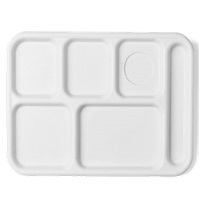 Cambro 10146CW110 Camwear School Tray 6-Compartment