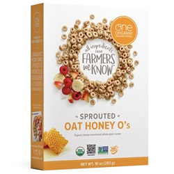 Sprouted Honey Oat O's, OG - 8oz
