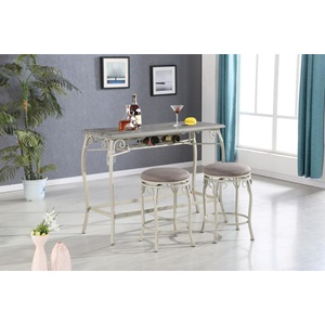 72520 3PC PACK COUNTER H. DINING SET