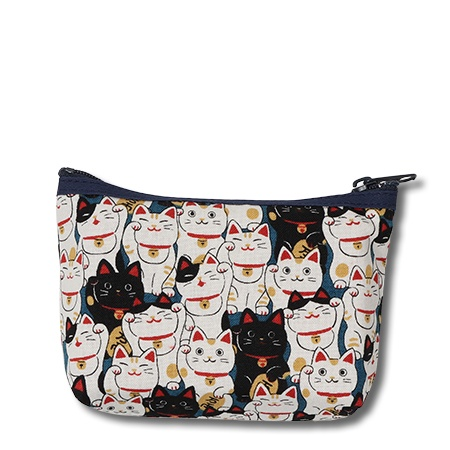 Purse Blue Fortune Cats